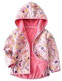 GGBaby@ Kinder Fleecejacke Doppelseite Jacke mit Kapuze Warm Weich Jungen Mädchen Kapuzenjacke Übergangsjacke Pink