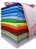 Baumwolldecke Wohndecke Kuscheldecke Tagesdecke 100% Baumwolle 130 x 170 cm sehr weiches Plaid Rio Alle Farben (Rosa)
