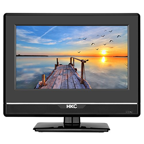 HKC 24C2NBD 24 '(60,50cm) LED Fernseher (Full-HD, Triple Tuner, DVD-Player, DVB-T / T2 / C / S / S2, H.265/ HEVC, CI +, Mediaplayer über USB [Energieklasse A +]
