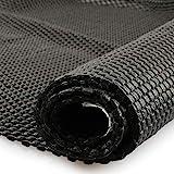 fowong Antirutschmatte Schwarz -100 x 150cm Antirutschunterlage Schubladeneinlage rutschfest zuschneidbar Teppich-Unterlage für Auto, Schubladen,Obst,Tischplatte,Teppich 572g