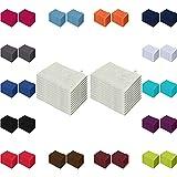 Waschlappen 20er Pack Sparpreis in vielen Farben 15x21 cm 100% Baumwolle Silber