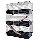 MyPets Nagerkäfig TowerCage Hamsterkäfig Meerschweinchenkäfig dreistöckig Breite 100 x Tiefe 52 x Höhe 150