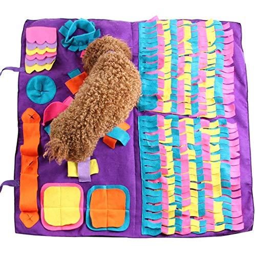 Gorgebuy Schnüffelteppich für Hunde,Hund Riechen Trainieren Intelligenzspielzeug,Schadstofffreies Hundespielzeug,Spielen Matte Toy Nase Arbeit für Haustier Hunde Katzen