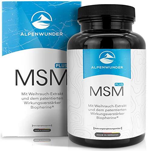 Premium MSM Kapseln hochdosiert | Alpenwunder 100% MADE IN GERMANY | 365 hochwertige Methylsulfonylmethan (MSM), organischer Schwefel Kapseln, hergestellt gemäß DIN EN ISO 9001