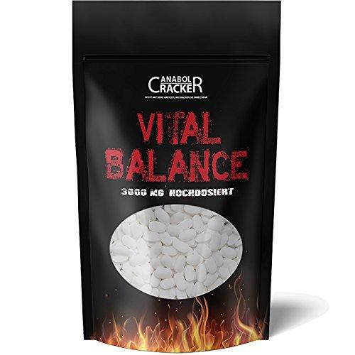 600 Tabletten - Vital Balance, Glucosamin Chondroitin MSM Vitamin C, 3000mg Hochdosiert, Deutsche Herstellung, Geld zurück Garantie