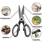 KOSxBO Premium Multitool Küchenschere - Multifunktionale Schere 20,3cm lang - Kitchen Scissors aus Edelstahl - Spülmaschinenfest - Hochwertige Haushaltsschere inklusive Schutzhülle