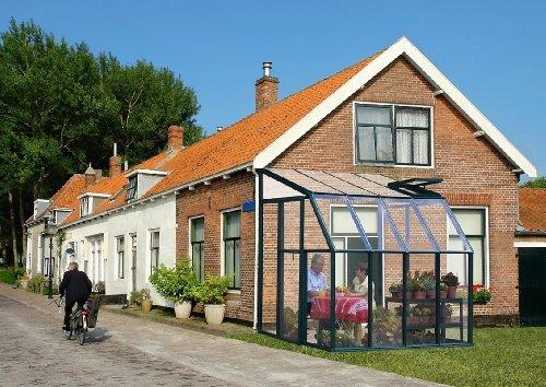 RION Kunststoff Anlehngewächshaus / Wintergarten 'Sun Lounge 33' (197 x 194 x 245) + Dachfenster