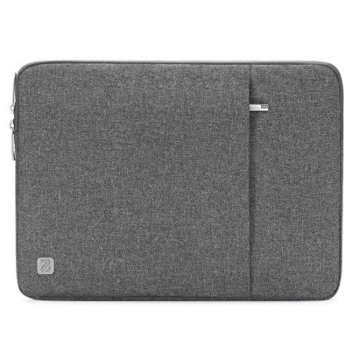 NIDOO 17 Zoll Wasserdicht Laptop Sleeve Case Notebook Hülle Schutzhülle Tasche Laptoptasche Schutzabdeckung für 17.3' HP Pavilion 17/17.3' MSI GS73VR Stealth Pro (Grau)