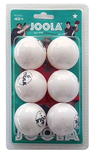 JOOLA Tischtennis-Bälle Rossi 1-Stern 40 weiss 6er Blister