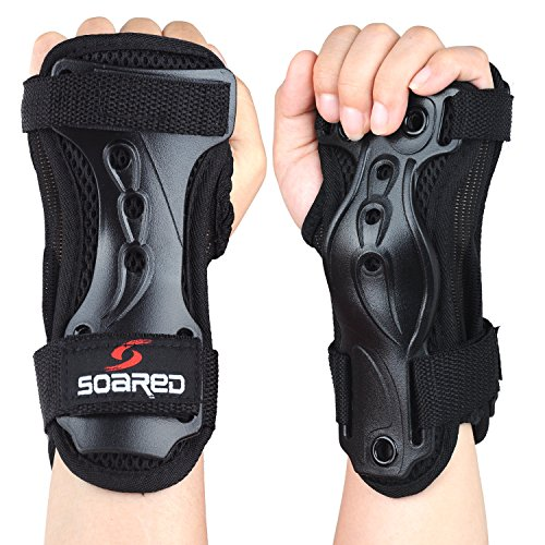 SOARED Skateboard Handgelenkschutz Schutzausrüstung Skaten Handgelenkschoner Skifahren Rollschuhe Protektoren Kinder Herren Damen