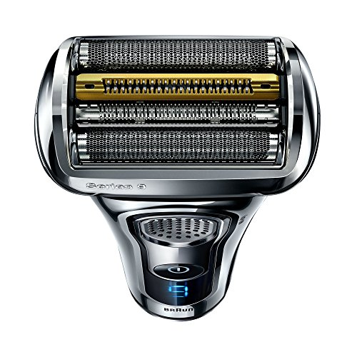 Braun Series9Rasierapparat 9296cc Premium Edition, mit Reinigungs-und Ladestation, Leder-Etui, chrom