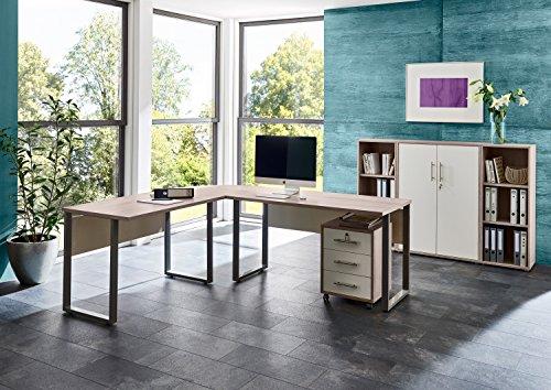 Büromöbel komplett Set Bürokombination Office Edition in Sandeiche - Made in Germany - (Set 2)