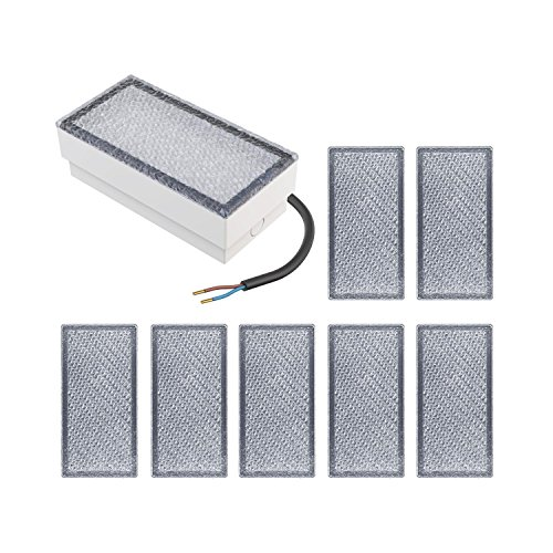parlat LED Pflasterstein Wegbeleuchtung CUS, 20x10cm, 230V, warm-weiß, 8 Stk.