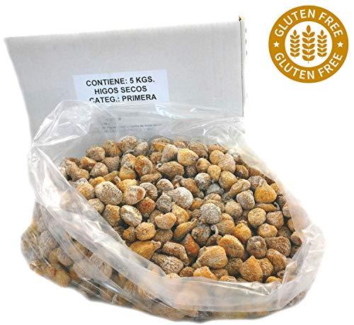 Getrocknete Feigen aus Spanien - 100% natürlich - Sonnengetrocknet - handverlesen - Superfood - Glutenfrei und Vegan - 5Kg Karton