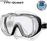 Tusa Freedom Tri-Quest - tauchmaske schnorchelmaske erwachsene profi silikon (M-3001)