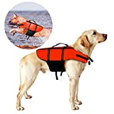 Hundeschwimmweste, Poppypet Doggy Aqua-Top Schwimmweste Schwimmtraining für Hunde, Orange