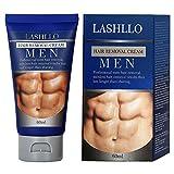 Haarentfernungscreme Enthaarungscreme Männer, Enthaarungsmittel, Hair Removal Cream Schnell und Einfach Haarentfernung, Lässt die Haut sanft, PLUS 1 Kunststoffschaber (60ml)