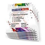 300 Blatt OFFICE-Partner Premium Fotopapier 10x15cm 200g / m² weiß, hochglänzend, wasserfest