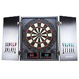 MCTECH Profi Elektronische Dartscheibe Dartboard Dartona Soft-Dartpfeile Steeldart 12 Dartfeile + 202 Varianten (type C)