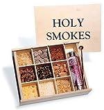 'Holy Smokes' Geschenkset Räucherkiste  9 edle Weihrauchsorten  mit Räucherkohle, Kupferlöffel und Anleitung  Edler Duft für Ihr Zuhause