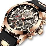 Herren Uhren Männer Militär Sport Wasserdicht Chronograph Luxus Große Armbanduhr Mann Datum Leuchtende Analoge Quarz Gummi Uhr