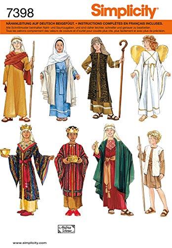 Simplicity Schnittmuster 7398 A Kinder Kostüm Krippenspiel Gr. S - M - L