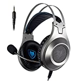 PC Gaming Headset, NUBWO N2 USB Gaming Headphones mit Rauschunterdrückungsmikrofon, Over-Ear Kopfhörer für PC /PS4/ Mac / Laptop -Black