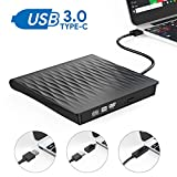 Externes DVD Laufwerk,Oudekay USB 3.0 DVD Brenner Portable USB C DVD/CD Laufwerk Slim RW DVD/CD Brenner Superspeed Tragbare CD Laufwerk für Windows10/7/8, Mac, MacBook Air/Pro, Apple, Linux