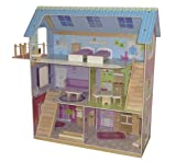 roba Puppenhaus, Puppenvilla inkl. 16 Puppenmöbel, Mädchen-Spielzeug liebevoll bedruckt