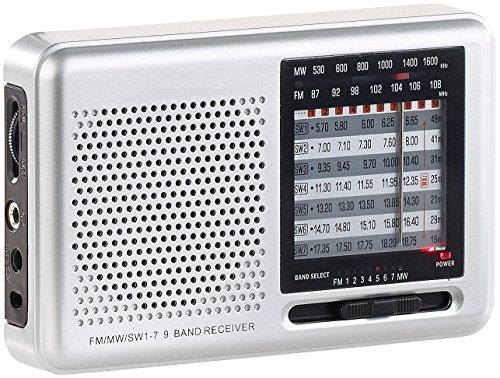 auvisio Taschenradio: Analoger 9-Band-Weltempfänger mit FM, MW & 7x KW, Jackentaschen-Format (Analog Radio)