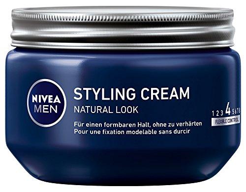 NIVEA MEN Styling Cream im 3er Pack (3 x 150ml), Haarcreme für formbaren Halt ohne zu verhärten, flexibles Haargel für einen Natural Look