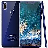 Cubot P20 (2018) Android 8.0 4G-LTE Dual SIM Smartphone ohne Vertrag, Ultra dünn 6.18″(19:9) In-Cell Screen FHD Display (2246×1080px) mit 4000 mAh Akku, 4GB Ram+64GB interner Speicher, Blau