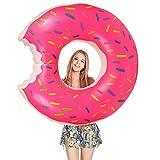 Schwimmring, Migimi Schwimmring Donut 120cm Floating-Ring Riesen Aufblasbar Schwimmreifen Luftmatratze Reifen Donut für Pool Party Strand
