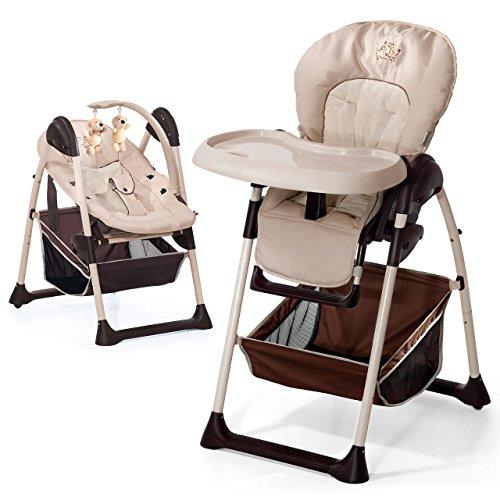Hauck 665107  Sit'n Relax Zoo - Babyliege und Hochstuhl ab Geburt / mit Liegefunktion, mitwachsend, höhenverstellbar