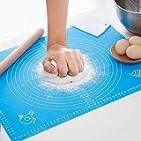 Sinwind Silikon Backmatte Baking Mat BPA frei Silikonmatte Nonstick mit Messungen Fondant Teig Gebäck Backmatte Teigmatte Wiederverwendbar für Fondant Gebäck Pizza Matte