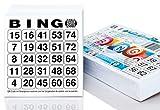 500 Bingo Karten / Bingo Lose System 25 aus 75 (10,5 x 11 cm)