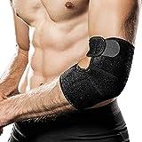 Hually Ellenbogenbandage, Ellbogen Bandage atmungsaktive Ellenbogenstütze mit Klettverschluss für Kraftsport, Golferarm, Handball, Sehnenscheidenschmerzen(Damen und Herren)