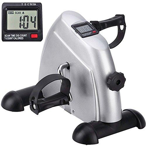 Minibike Heimtrainer Bewegungstrainer Pedaltrainer Trainingsgerät Fitnessgerät mit LCD-Monitor Einstellbarer Widerstand Fahrradtrainer Fitness-Fahrrad Heimfahrrad für Arm- und Beintrainer Zuhause Büro