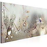 murando - Bilder Pusteblume 150x50 cm - Leinwandbild - 1 Teilig - Kunstdruck - modern - Wandbilder XXL - Wanddekoration - Design - Wand Bild - Blumen Natur grau Pusteblumen b-C-0169-b-b