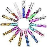 Artoper 15 Stück Meerjungfrau Armbänder für Party, Farbe Reversible Charme Pailletten Slap Armband Magic Beruhigende Armbänder für Kinder Gastgeschenke, Mädchen, Geburtstagsgeschenke (15 Pack Bunt)
