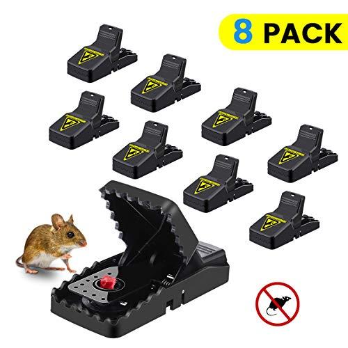MOHOO Profi Mausefalle 8er Set Schlagfalle Mäusefalle Wiederverwendbar Effektive in Haus und Garten