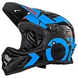 O'Neal Backflip RL2 Slick Fahrrad Helm Downhill MTB Mountain Bike FR DH Fullface, 0500-L, Farbe Schwarz Blau, Größe M