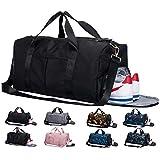 Lantch Männer Sporttasche Reisetasche Frauen Weekender Handgepäck Tasche mit Schuhfach(bk)