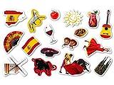 XXL-Großkonfetti * SPANIEN * mit 51 großen Konfetti-Teilen für eine Motto-Party oder Länder-Party // Party Kinder Kindergeburtstag Konfetti Deko Motto Spain Stierkampf Rotwein Flagge