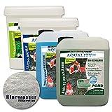 AQUALITY Komplettset Teichpflege-Set XXL (GRATIS Lieferung innerhalb Deutschlands - Sparset für Ihren Gartenteich: Wasseraufbereiter, Teichklärer, Teich-Aktiv, Fadenalgenvernichter)