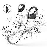 Bluetooth Wasserdichte Kopfhörer 8GB MP3-Player, GogoTool Bluetooth 4.1 IPX8 Wireless Super Bass In Ear Sport Sweatproof HiFi Stereo-Ohrhörer Integrierte Mikrofon mit Noise Cancelling Tech