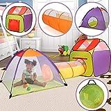 Infantastic Kinderspielzelt mit Tunnel | 3 Teile: Kinderzelt mit Haus, Iglu und Tunnel, mit Tasche für drinnen und draußen | Baby Spielhaus, Kinderzelt, Spielzelt, Krabbeltunnel