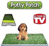 Die original Potty Patch–Katzenstreu in Kunstrasen für Hunde–WC matt WC ideal für Welpen–ersetzt Reinigungstücher saugstark–antibakteriell und geruchshemmend–Ideal für tun Pipi im Haus unserer Welpen–Für die Hunde bis 7kg–großen 70x 44x 5cm