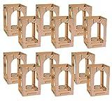 Kinder Holzlaterne zum Basteln von Avantgarde 12er Set 'Kindergarten Qualität'
