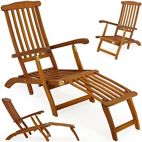 Sonnenliege Queen Mary Holz Deckchair Holzliege Gartenliege Liegestuhl Liege